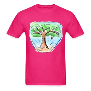 Free Crazy Sketch of an Apple Tree | Dog Bandana - Men's T-Shirt