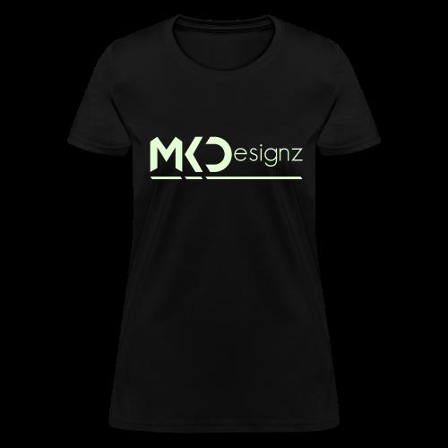 MK Designz Official Shirt (Glowin the Dark) - Women's T-Shirt