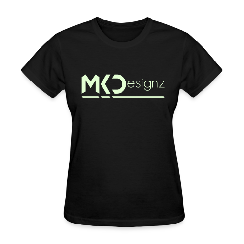 MK Designz Official Shirt (Glowin the Dark) - Women's T-Shirt