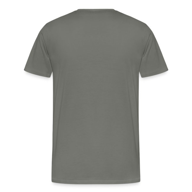 Men's Cut Premium T-Shirt (French) - Lettre Blanc