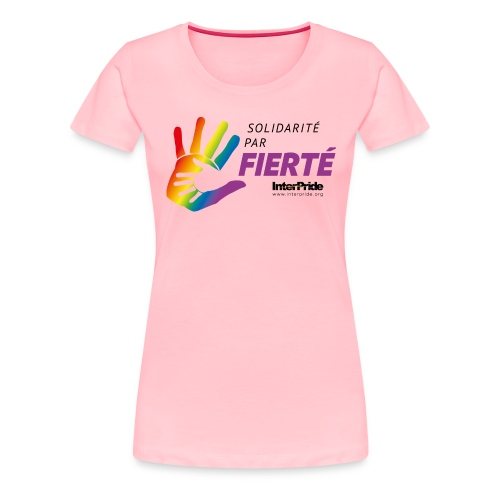 Women's Premium T-Shirt (French) - Lettre Noir - Women's Premium T-Shirt