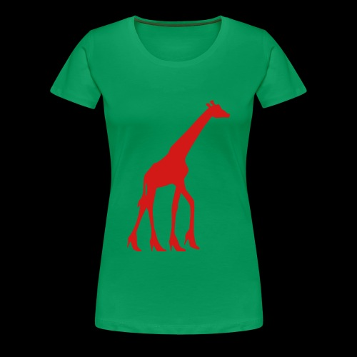 High Heel Giraffe - Women's Premium T-Shirt