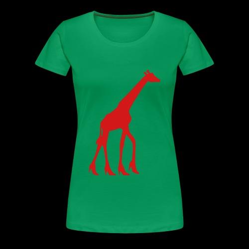 High Heel Giraffe - Women's Premium T-Shirt