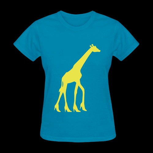 High Heel Giraffe - Women's T-Shirt