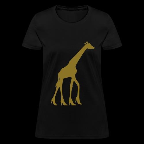 High Heel Giraffe - Women's T-Shirt