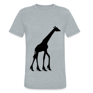 High Heel Giraffe - Unisex Tri-Blend T-Shirt by American Apparel