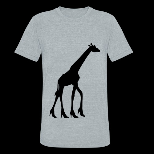 High Heel Giraffe - Unisex Tri-Blend T-Shirt