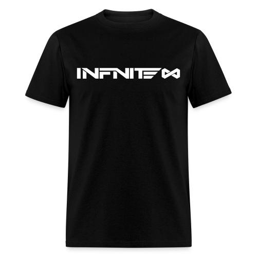 Infinite Logo White On Black - Men's T-Shirt