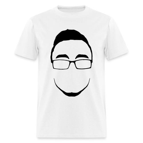 Infinite Face Outline Black On White - Men's T-Shirt