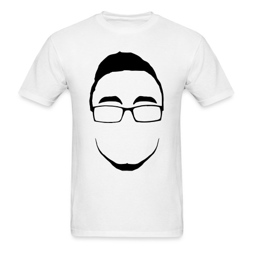 Infinite Face Outline Black On White - Men's T-Shirt
