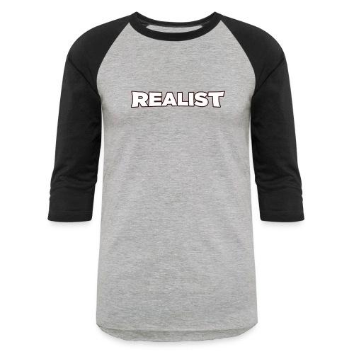 Realist Men's Baseball T-Shirt - Baseball T-Shirt