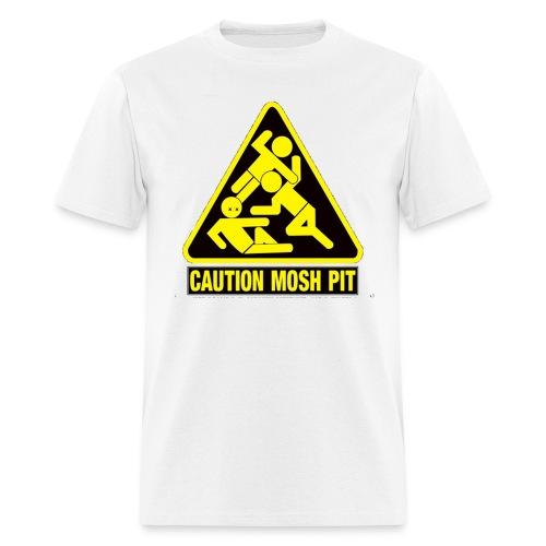 Caution Mosh Pit T0Shirt White - Men's T-Shirt