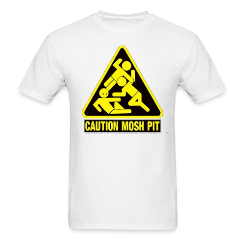 Caution Mosh Pit T0Shirt White - Men's T-Shirt