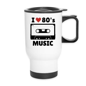 80s music thermal mug (white) - Travel Mug