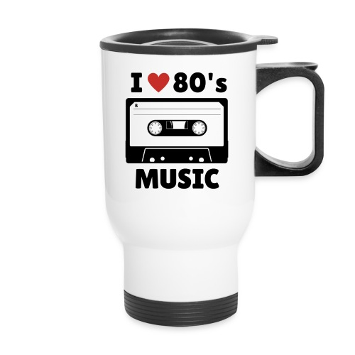 80s music thermal mug (white) - Travel Mug