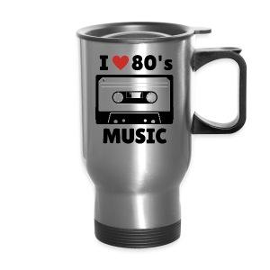 80s music thermal mug (silver) - Travel Mug