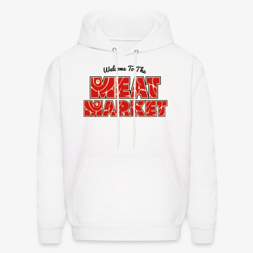 Welcome To The Meat Market Hoodie White - Men's Hoodie