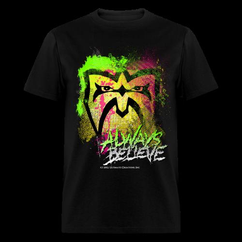 Ultimate Warrior Always Believe Paint Explosion Shirt - Men's T-Shirt