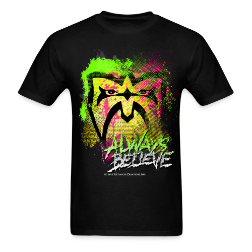 Ultimate Warrior Always Believe Paint Explosion Shirt - Men's T-Shirt