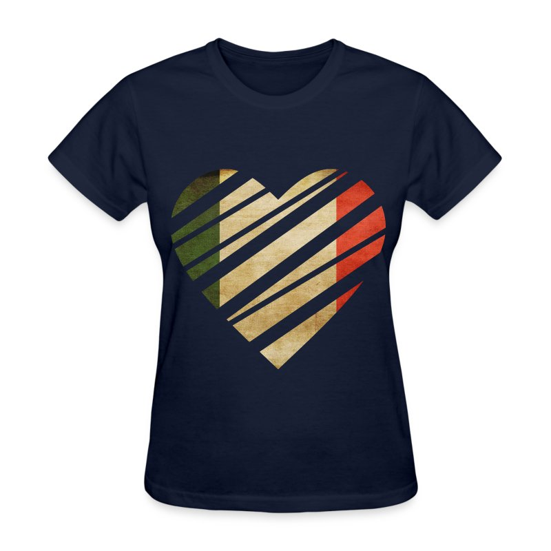 Italy heart t shirt spreadshirt for Shirts made in italy
