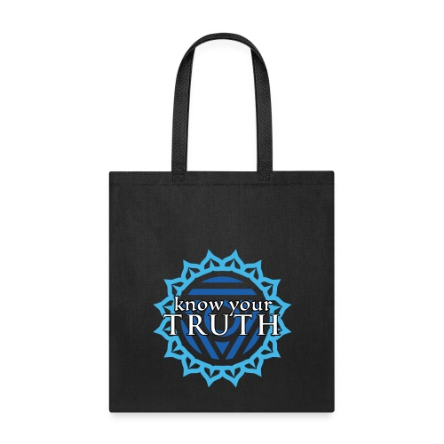 Know Your Truth Throat Chakra Tote Bag - Tote Bag