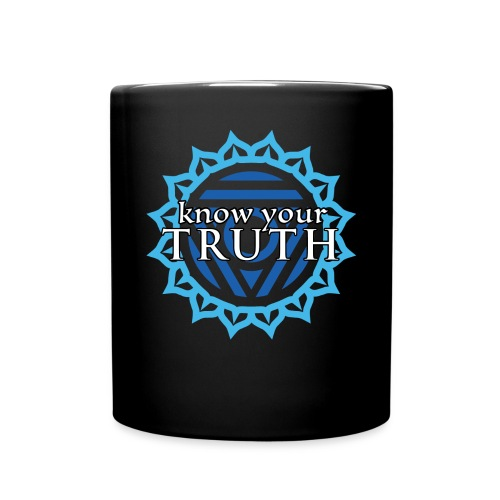 Know Your Truth Throat Chakra Mug - Full Color Mug