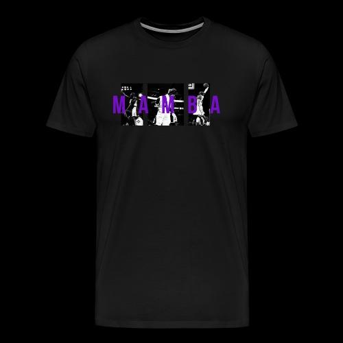 Mamba Posterized Tee (Black) - Men's Premium T-Shirt