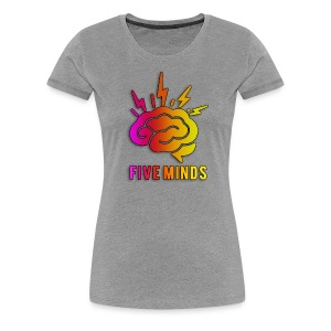 Women FiveMinds Logo+Name - Women's Premium T-Shirt