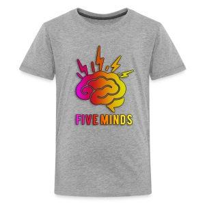 Kid FiveMinds Logo+Name - Kids' Premium T-Shirt