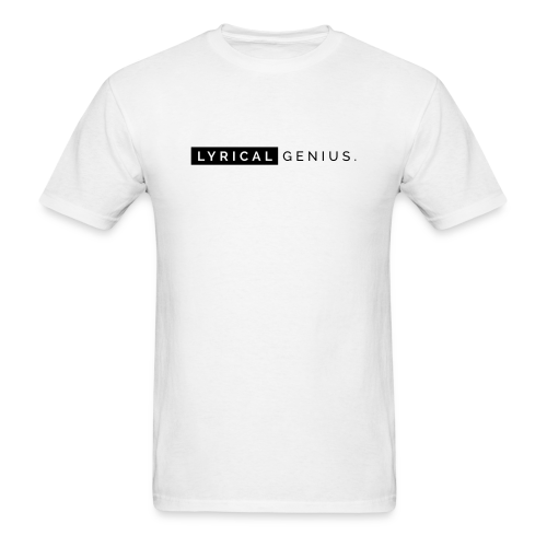 Lyrical Genius Basics - WHT - Men's T-Shirt