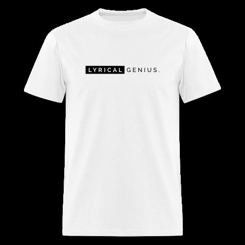 Lyrical Genius Basics - WHT - Men's T-Shirt