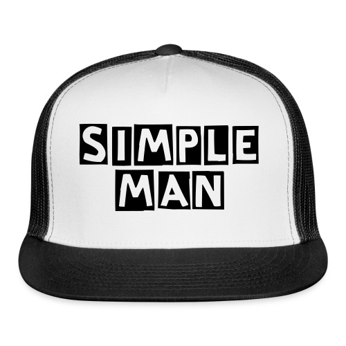 Simple Man Cap-Black - Trucker Cap