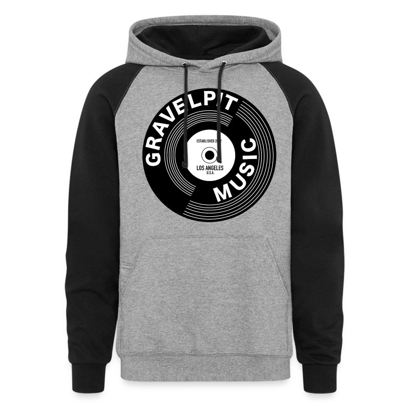 GRAVELPIT RECORD LOGO - Colorblock Hoodie