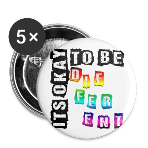 ITS OKAY TO BE DIFFERENT! 5 Pack, 1 inch, Pins! - Small Buttons
