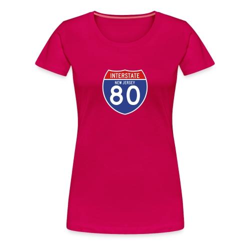 New Jersey Interstate 80 Sign Women's T-Shirt - Women's Premium T-Shirt