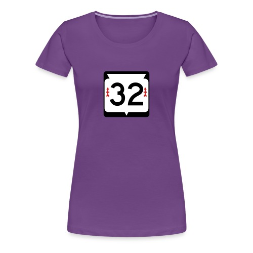 Wisconsin Route 32 Sign Women's T-Shirt - Women's Premium T-Shirt