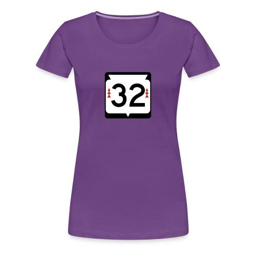 Wisconsin Route 32 Sign Women's T-Shirt - Women's Premium T-Shirt