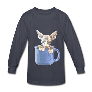 Cute kitty 2 - Kids' Long Sleeve T-Shirt