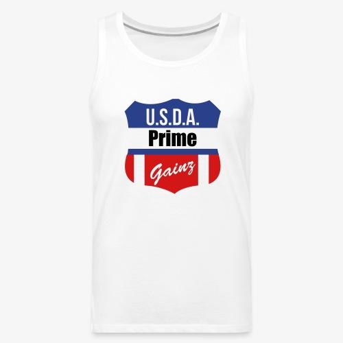 USDA Prime Gainz Tank Top - Men's Premium Tank