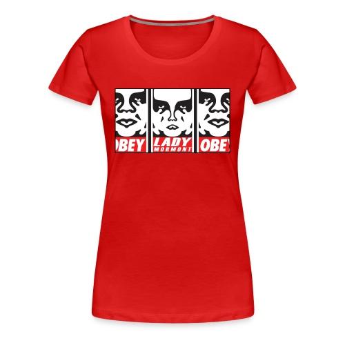 Ladies - OBEY Lady Mormont Premium Tee Shirt - Women's Premium T-Shirt
