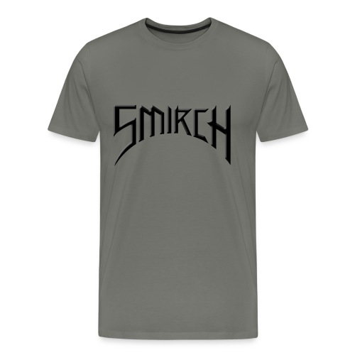 Grey Smirch Band-Style Tee - Men's Premium T-Shirt