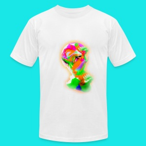 Colorful Aliena (in white) - Men's Fine Jersey T-Shirt