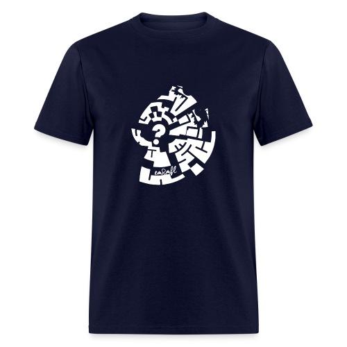WHAT-2 brown - Men's T-Shirt