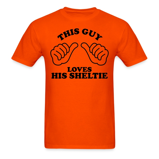 Two Thumbs Sheltie Guy - Mens T-shirt