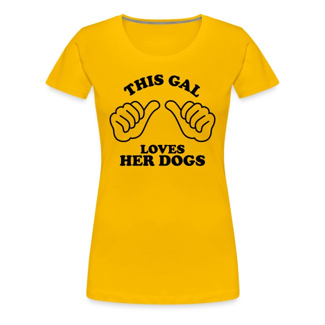 Two Thumbs Dogs Gal - Womens Plus Size T-shirt