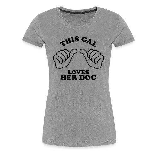 Two Thumbs Dog Gal - Womens Plus Size T-shirt - Women's Premium T-Shirt