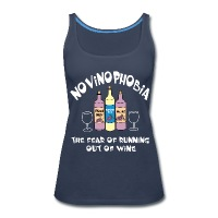 Novinophobia Bottles White Text - Women's Premium Tank Top