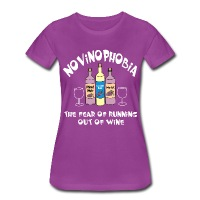 Novinophobia Bottles White Text - Women's Premium T-Shirt