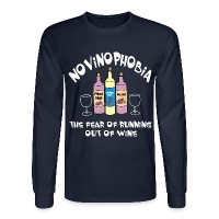 Novinophobia Bottles White Text - Men's Long Sleeve T-Shirt