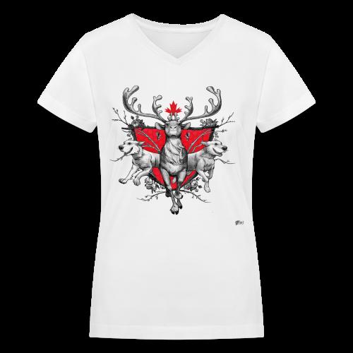 Women Cariboutiful - Women's V-Neck T-Shirt